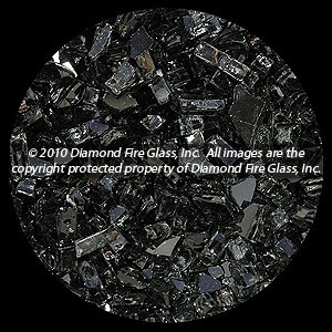 Midnight Black Diamond Fire Pit Glass - 1 LB Crystal Package
