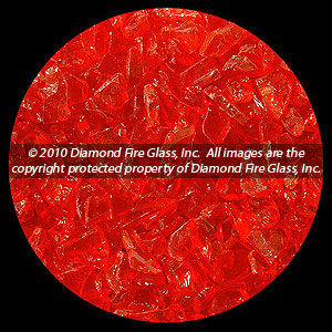 Madarin Diamond Fire Pit Glass - 25 LB Accent Crystal Package