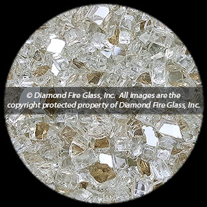 Platinum Diamond Fire Pit Glass - 25 LB Crystal Package
