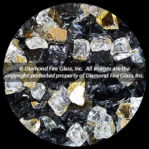Presidential Premixed Diamond Fire Pit Glass