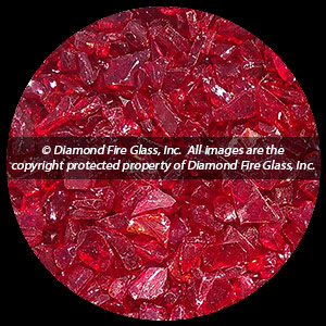 Ruby Red Diamond Fire Pit Glass - 1 LB Accent Crystal Package