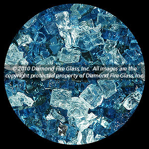 Sapphire Garden Premixed Diamond Fire Pit Glass