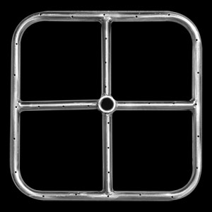 Stainless Steel Square Fire Ring - 18 Inch
