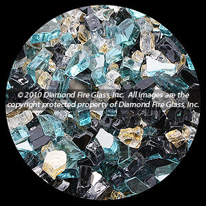 Venetian Gold Premixed Diamond Fire Pit Glass