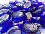 Electric Blue Metallic Glass Beads