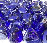 Electric Blue Metallic Glass Diamonds