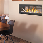 Direct vent fireplace by Napoleon fireplace company featuring the Luxuria Model LVX38N2