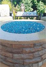 Bahama Blue Reflective Nugget Diamond Fire Pit Glass Outdoor Fire Pit