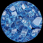 Bali Blue Nugget Diamond Fire Pit Glass - 1 LB Nugget