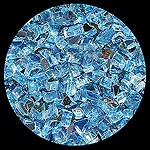 Bali Blue Reflective Diamond Fire Pit Glass - 1 LB Crystal Package