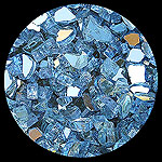 Blue Reflective Diamond Fire Pit Glass - 1 LB Crystal Package