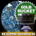 Cobalt Dark Blue Reflective Diamond Fire Pit Glass - 60 LB Crystal Package