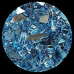 Cobalt Dark Blue Reflective Diamond Fire Pit Glass - 100 LB SuperSack Crystal Package
