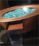 South Coast Premixed installed in outdoor fire pit water fountain