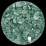 Forest Green 2000 Reflective Diamond Fire Pit Glass - 1 LB Crystal Package