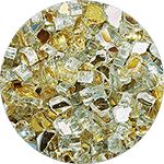 24K Gold Reflective Diamond Fire Pit Glass - 25 LB Crystal Package