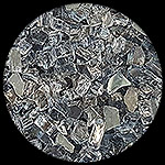 Gun Metal Gray Diamond Fire Pit Glass - 1 LB Crystal