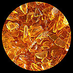 Honey (Yellow) Diamond Fire Glass - 1 LB Crystal Package