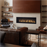 Direct Vent Linear fireplace insert by Napoleon featuring the Luxuria 62 inch Linear Fireplace Insert