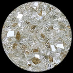 Platinum Diamond Fire Pit Glass - 1 LB Crystal Package