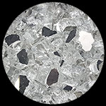 Silver Reflective Nugget Diamond Fire Pit Glass - 1 LB Nugget
