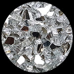 Silver Reflective Crystal Diamond Fire Pit Glass