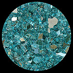 Turquoise Reflective Diamond Fire Pit Glass - 100 LB SuperSack Crystal Package