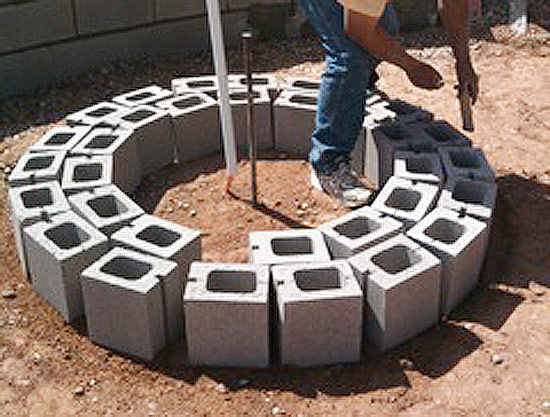 Fire Pit Installation For Round Or
